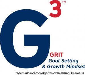 "Pronounced ""G to the third power"", this is a leadership strategy and emotional intelligence teaching formula that Realizing Dreams applies for exponential achievement in school, work, life, health and play."