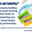Collaborative hands-on game for school family community partnerships. It's all about a little Teamwork and FamilyPlay™