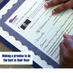 Invite students to make a promise to do the best in their lives and accept The United States of America Student Challenge and sign their My Declaration of Independence™.