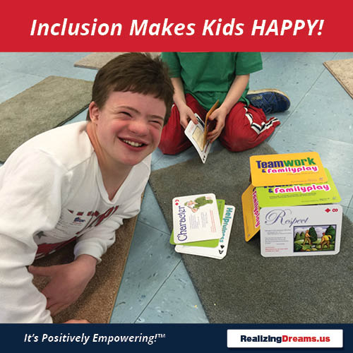 Teamwork and FamilyPlay Inclusion Makes Kids HAPPY