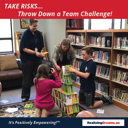 Teamwork and FamilyPlay Take Risks Throw Down a Team Challenge