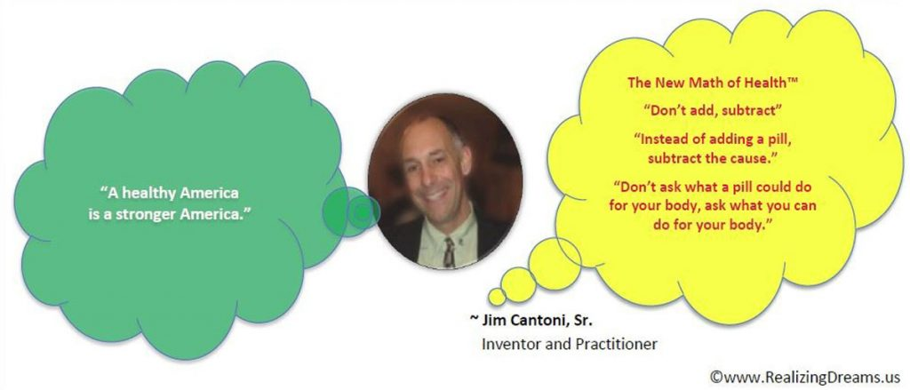 Jim Cantoni, founder of Realizing Dreams, Creator of The New Math of Health™