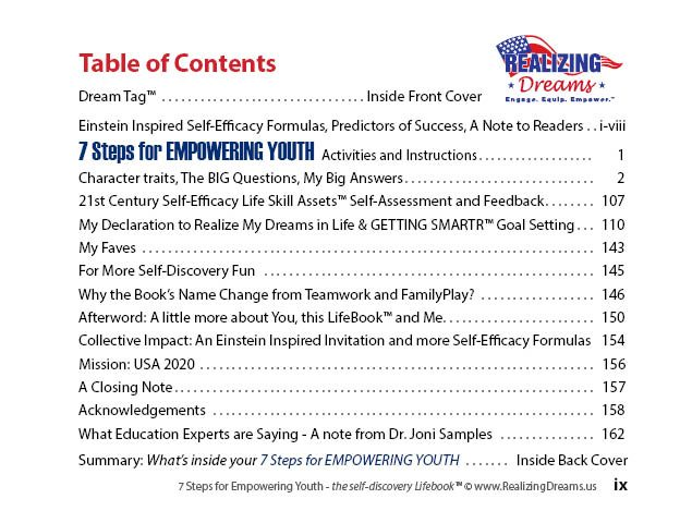 Table of Contents 7 SFEY GPS for Success